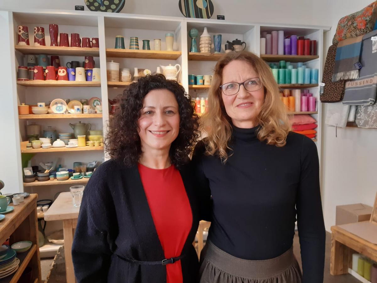 Mit Maria Emslander-Haugg (Mema Keramik Eichstätt)
